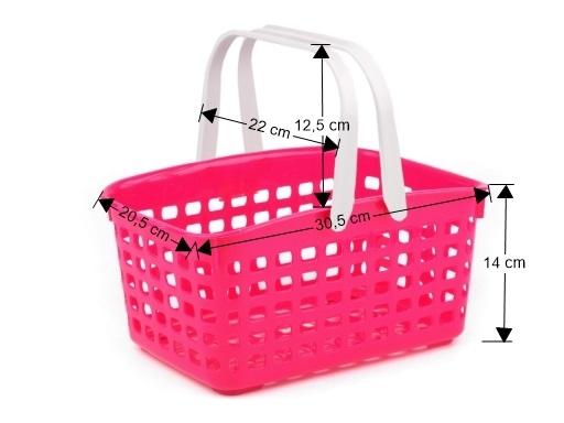 Plastový košík 14x20,5x30,5 cm zelenobežova 1ks
