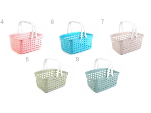 Plastový košík 14x20,5x30,5 cm zelená flaškov 1ks