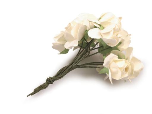 Ruže na drôtiku / polotovar na výväzky Ø20 mm fialová 1zväzok