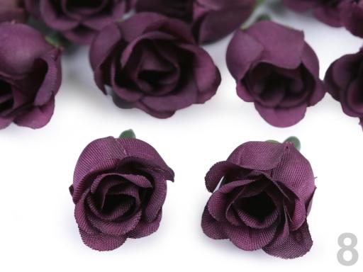 Umelý kvet ruže Ø25 mm krémová sv. 200ks
