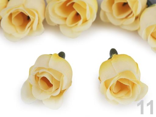 Umelý kvet ruže Ø25 mm ružová sv. 200ks
