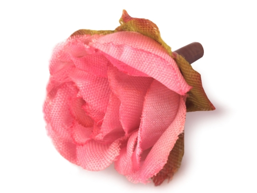 Umelý kvet ruže Ø25 mm lososová sv. 20ks