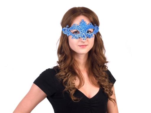 Karnevalová maska - škraboška červená 1ks