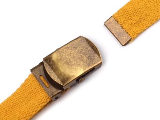 Kovová spona 25 mm na opasok s koncovkou staromosadz 10sada