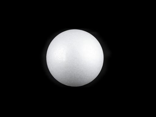 Guľa Ø5 cm polystyrén biela 10ks