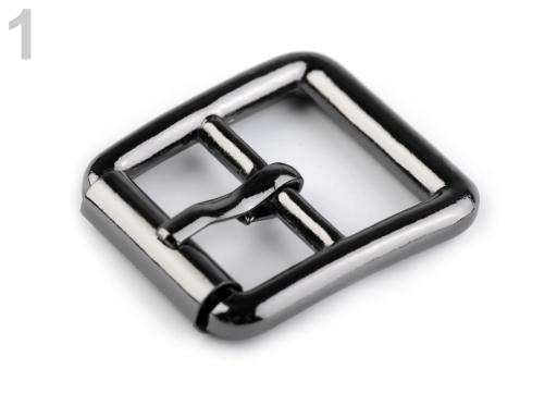 Kovová spona 20 mm nikel čierny 10ks