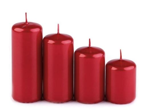 Adventné sviečky valec zostupné zlatá 1krab.