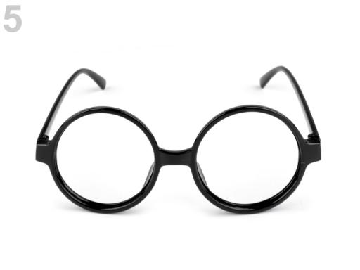 7906904a9 Karnevalové okuliare guľaté čierna 20ks