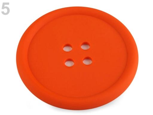 Silikónová podložka gombík Ø9 cm zelená sv. 2ks