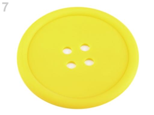 Silikónová podložka gombík Ø9 cm mliečna 2ks