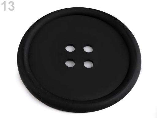 Silikónová podložka gombík Ø9 cm ružová neon 2ks