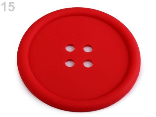 Silikónová podložka gombík Ø9 cm tyrkys 2ks