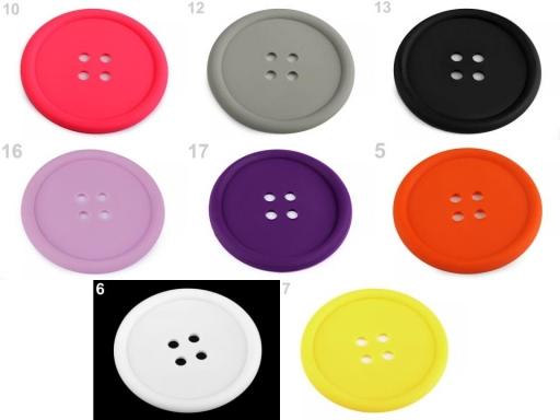 Silikónová podložka gombík Ø9 cm šedá sv. 2ks