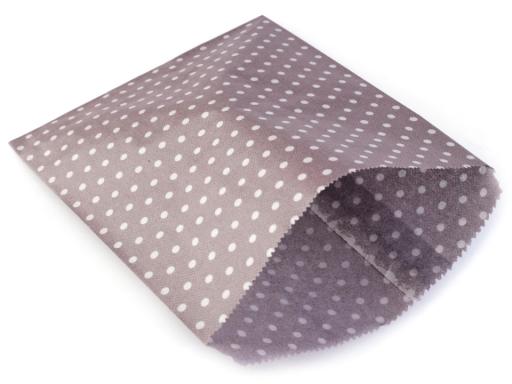 Papierový sáčok 15x19 cm s bodkami hnedá 100ks
