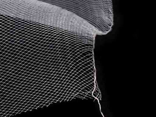 Modistická krinolína na vystuženie šiat a výrobu fascinátorov šírka 16 cm červená 1m