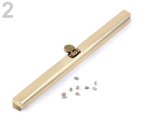 Rámček na výrobu kabelky 19 cm vkladací staromosadz 1ks
