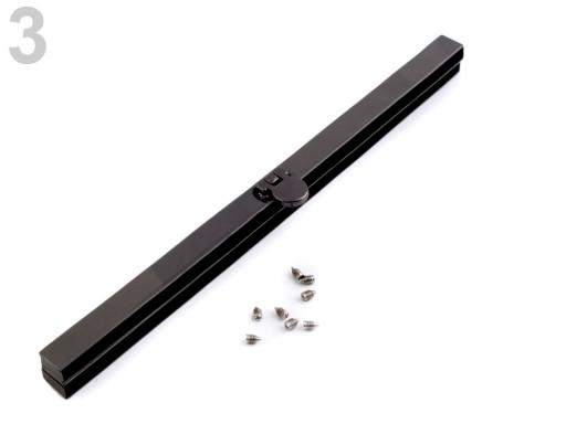 Rámček na výrobu kabelky 19 cm vkladací nikel čierny 1ks