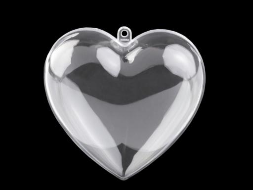 Plastová krabička srdce 10x10 cm dvojdielne Transparent 5ks