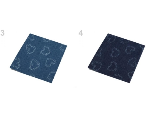 Nažehlovacie záplaty riflové 17x43 cm modrá jeans 1ks