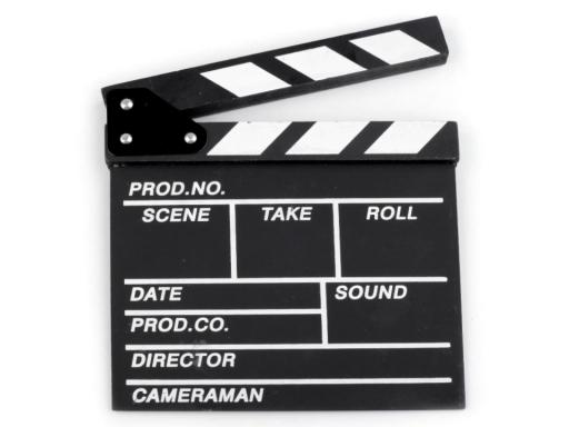 Filmová klapka 20x20 cm čierna 1ks