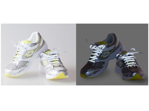 Reflexná šnúrka do topánok dĺžka 120 cm biela 1pár