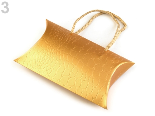 Darčeková krabička metalická zlatá 2ks