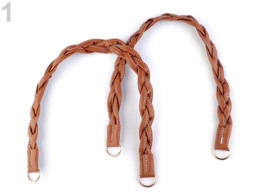 Rúčky na tašky prepletené dĺžka 47-50 cm hnedá sv. 2ks