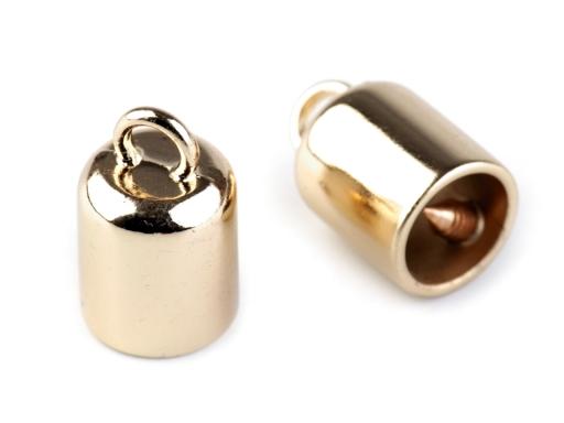 Kovová koncovka na šnúrky Ø8 mm zlatá 2ks