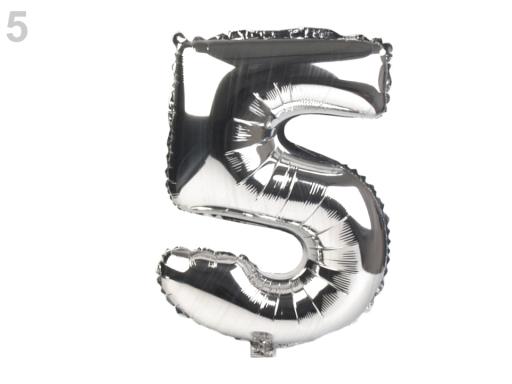 Nafukovací balónik číslice strieborná 1ks