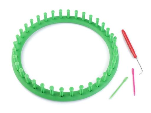 Sada na pletenie kruh Ø24 cm zelená irská 3sada