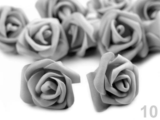 Dekorácia penová ruža Ø4 cm pudrová 10ks