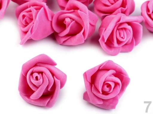 Dekorácia penová ruža Ø4 cm staroružová sv. 10ks