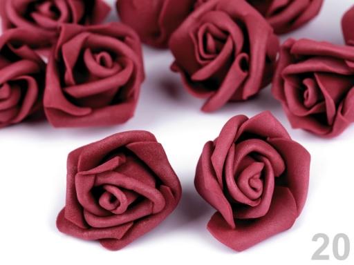 Dekorácia ruža Ø4 cm ružová 10ks