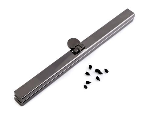 Rámček na výrobu kabelky 15 cm vkladací nikel čierny 100ks