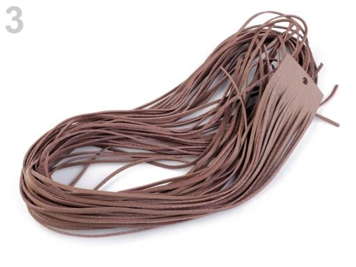 Kožený remienok šírka 2 mm, 95 cm hnedá sv. 20ks