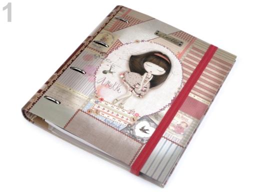 Krúžkový zápisník / zakladač značky Anekke 28x32 cm ružová hmlovo 1ks