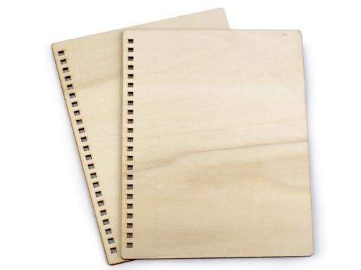 Drevené dosky na výrobu zápisníkov A5 buk 2ks