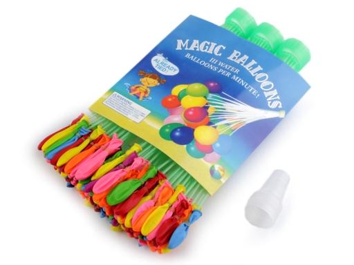 Magické vodné balóniky + nástavec mix farieb 3sáčok
