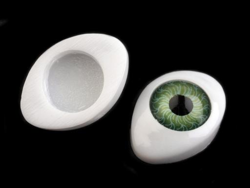 Oči nalepovacie 14x19 mm tyrkys 6ks