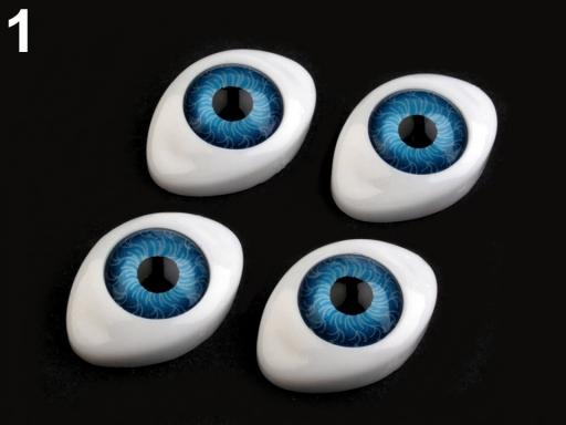 Oči nalepovacie 16x23 mm zelenkavá 6ks