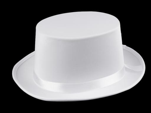 8d2169392 Dekoračný klobúk / cylinder na ozdobenie biela snehová 1ks