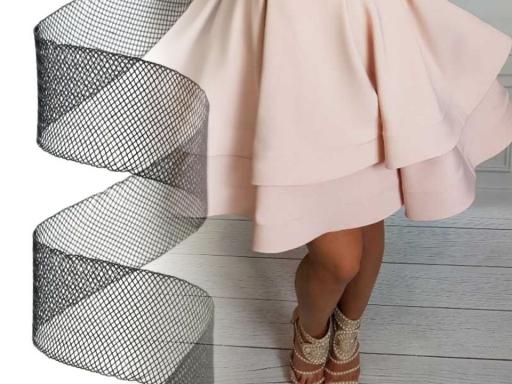 Modistická krinolína na vystuženie šiat a výrobu fascinátorov šírka 5 cm biela 41m