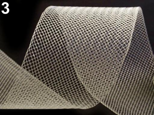 Modistická krinolína na vystuženie šiat a výrobu fascinátorov šírka 5 cm oranžová 41m