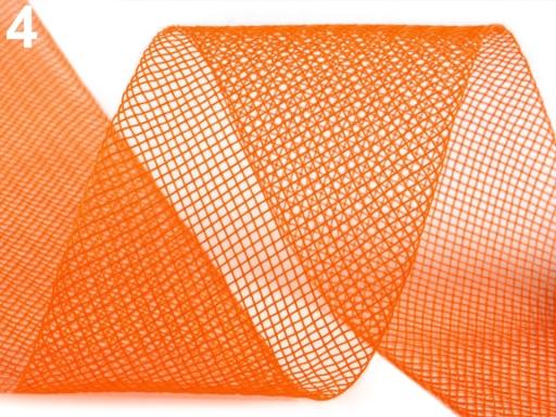 Modistická krinolína na vystuženie šiat a výrobu fascinátorov šírka 5 cm modrá tm. 41m