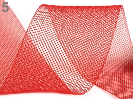 Modistická krinolína na vystuženie šiat a výrobu fascinátorov šírka 5 cm čierna 41m