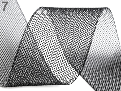 Modistická krinolína na vystuženie šiat a výrobu fascinátorov šírka 5 cm šedá 41m
