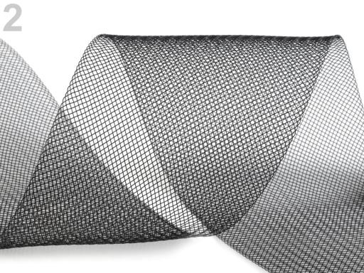 Modistická krinolína na vystuženie šiat a výrobu fascinátorov šírka 10 cm čierna 44m