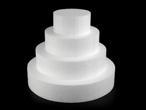 Dorčekový korpus polystyrén 4 poschodia biela 3ks