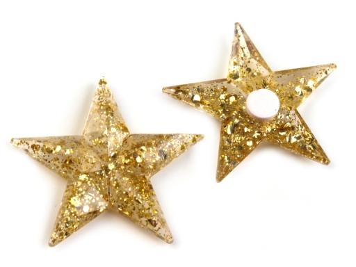 Samolepiace dekorácie hviezdy s glitrami Ø30 mm strieborná 18ks