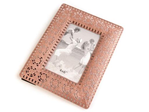 Kovový fotorámček vintage hnedá sv. 6ks